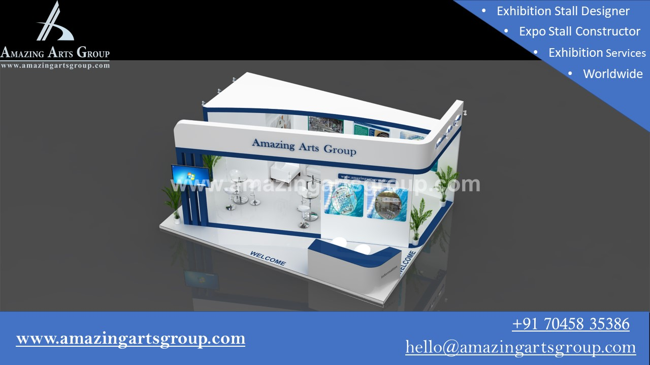 Exhibition Stall Designer In Noida : Tejaswi exhibition stall design event managment company india